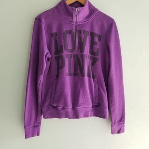 Pink by Victoria Secret purple quarter zip